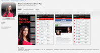 iTunes Store page showing Andrea Tantaros app.