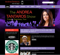 Andrea Tantaros Home Page. (showing second header)