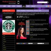 Web page showing Andrea App.
