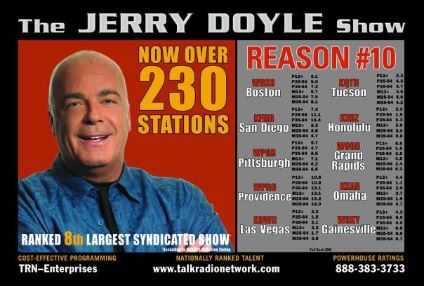 Jerry Doyle oversized postcard.