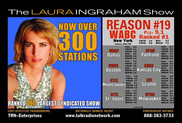 Laura Ingraham oversized postcard.